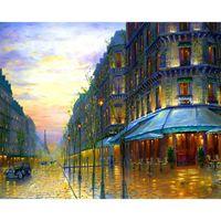 arts avenue - Diy Diamond Painting home decor Novelty d Square Pattern Paris Avenues gift room wallpaper X40CM HWD