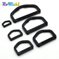 bag webbing - 100pcs Plastic D Ring Webbing Strapping Leather Bag Shirt Craft Black