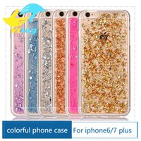 Wholesale 2016 Soft Clear Cases Luxury Bling Sparkle Faceplate Colorful Leaf Design Semi transparent Flexible Soft TPU Protective Case for iphone