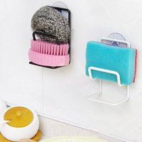 bathroom standing towel racks - New Arrival Sink Draining Brush Sponge Cleaning Cloth Towel Rack Washing Holder Kitchen Tidy Stand