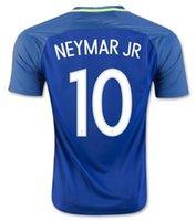 away ronaldinho - Brazil Neymar JR Away Soccer Jerseys shirts Thai Quality Copa America Ronaldinho football jerseys Ronaldinho Soccer Wear