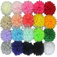 alternative flowers - 40pcs Alternative Chiffon Hair Flowers Headband Flowers WITHOUT Clips For Baby Girls Hair Accessories