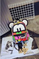 big high school - 2016 new trend version of Mickey canvas big ears cartoon Mini backpack Primary school bag High quality canvas fabric inches