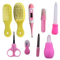 Wholesale Cute baby healthcare and grooming kit travel portable baby care grooming kit