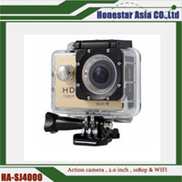Wholesale Waterproof mini sports camera SJ4000 FULL hd p action camera wifi DVR digital Camcorders wide angle lens cameras