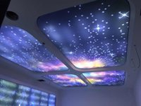 stretch ceiling - Blue Night Sky Universe Ceiling WallPaper PVC Stretch Ceiling Film Custom