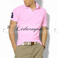 Wholesale Popular Brand men solid polo shirt Casual short sleeve Shirts plus size high quality M196