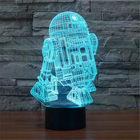 alien table - 2016 Hot Colorful USB LED Decoration Lights Office Table Lamp Child Christmas Bedroom D Alien Night Lights D TD71