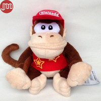 baby donkey kong - New Super Mario Diddy Kong Plush Doll Didi Kongu Toy Donkey Kong Baby Dolls Anime Juguetes Bonecas Collection Kids Gift