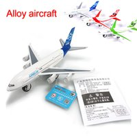 airlines jet - Alloy metal A380 airlines airplane model airbus airways plane model stand aircarft boy toy gift