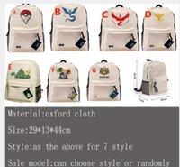 Wholesale New Poke Go Elf Ball Backpacks Cartoon Unisex Children Adult Women Men Oxford cloth Shoulder Bags Schoolbag