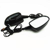 Wholesale Rear View Side Mirrors With LED Turn Signal Integrated Ninja ZX6R Carbon Fiber CBR Katana GSX600 GSX1300R YZF Hayabusa