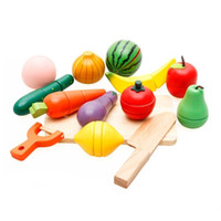 Wholesale 14pcs Kitchen Food Simulate Fruits and Vegetables Pretend Game Play House Parent child Game Kitches Play Food
