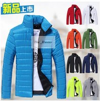 Wholesale Men Cotton Padded Jacket Fashion Cotton Padded Clothes Warm Thick Coat Candy Bomber Jackets Men s Sweaters Hoodies Tracksuit Outerwear