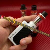 Cheap Original CoV Mini Volt Kit black white red & CoV Mini Volt mod Council of Vapor Mini Volt vs nugget mod dna 75 mod