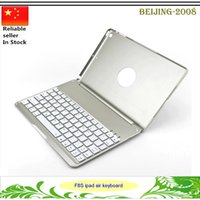 Wholesale Hot LED Backlit Keyboard Case Illuminated Aluminium Backlight Wireless Connecting Bluetooth Cover for Apple iPad Air Color