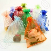 Wholesale 100pcs cm Drawstring Organza Bags Wedding Bridal Party Favors Gift Candy Wrapping Bags Jewelry Pouch JJA53