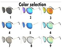 big ant - New Grey Ant Sunglasses dazzle color retro fashion dark glasses Multilateral big box of reflective sunglasses