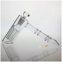 UK water pipes - Newest CM Arm Two Functions Glass Hammer Percolator Bubbler Water Pipe Glass Smoking Pipes Tobacco Pipe Bong With MM Joint