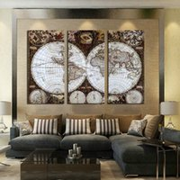 Cheap Cassic Wall Art The World Map HD Printed on Canvas Wall Pictures for Living Room Without Frame