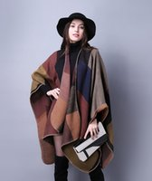 Wholesale Fall Winter fashional colorful plaid jacquard woven with blacket stitches edge warm shawl
