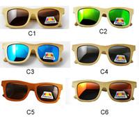 Fashion arming pilots - 2016 new fashion bamboo men women sunglasses wooden polarized lens vintage glasses no design arm