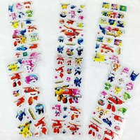 Wholesale 100 Sheets Cute D Cartoon Foam Puffy Sticker for Children Snow White Marie Cat Princess Kitty Minion Spiderman Princess