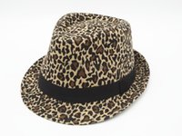 Wholesale 2016 Cool Leopard Printing Cotton Stingy Brim Hats Panama Top Hats For Women And Men Free Ship