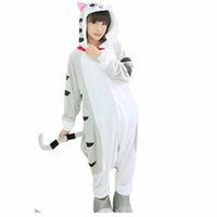 Wholesale Cute Cat Anime - Cheese Cat Unisex Flannel Hooded Pajamas Adults Cosplay Cartoon Cute Animal Onesies Sleepwear Hoodies For Women