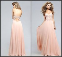 best evening wear - Sweetheart Lace Applique Chiffon Prom Dresses Cheap A line Girl Party Gowns prom Occasion Wear Best Sale Evening Gowns Formal Wear
