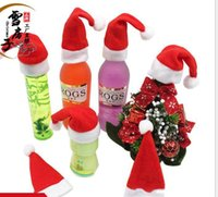 Wholesale Mini Christmas Bottle Caps Cutlery Bag For Christmas decorations New Style