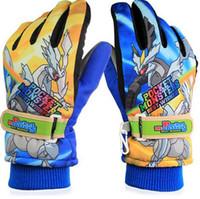 Wholesale 2016 New Arrival Years Children Warm Ski Snow Snowboard Gloves Winter Warm Gloves Cartoon Designs colors