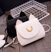 Wholesale 2016 Summer Limited Sailor Moon Bag Ladies Handbag Black White Cat Luna Moon Women Messenger Crossbody Bag