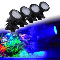 Wholesale Aquarium Led Lighting Set Lights RGB Leds W Fish Tank Underwater Spot Light with Key IR Remote Control EU UK US Plug