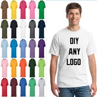 advertising good - any color Blank t shirt Custom LOGO T shirt Embroidery cotton Tops TEE good quality printed advertising t shirts work shirts