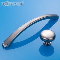 bathroom door pulls - 5pcs Silver Door Handle Modern Hardware Kitchen Cupboard Cabinet Bathroom Handle Solid Drawer Pull