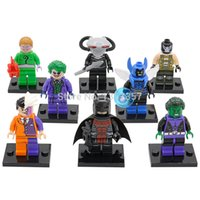 beast boy toys - POGO DC Super Heroes Black Manta Blue Beetle Beast Boy Batman Minifigures Building Blocks Sets Models Figures Toys