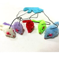 Wholesale Cat Toy Cat Play Glove fingers with mice cute cat playing toys with owner