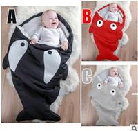 Wholesale shark sleeping bag Winter Strollers Bed Swaddle Blanket Wrap Cute Thickening Bedding baby sleeping bag