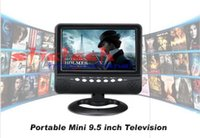 Wholesale 50pcs inch Portable TFT LCD color Analog TV with Wide View Angle FM Radio SD MMC Card USB Flash Disk AV
