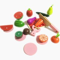 baby food games - New Arrival Baby Toys Large Fruit Vegatable Cut Game Wooden Toys Infant Pretend Play Food Kitchen Toys Box Set Birthday Gift
