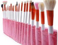 animal hair brushes - 20 Goat hair Powder Brushes Cosmetic Set Eyeshadow Lip Face Makeup Tool Women Make Up Brush Sets animal hair