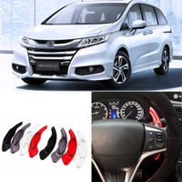 Wholesale 2pcs High Quality Alloy Add On Steering Wheel DSG Paddle Shifters Extension For Honda Odyssey can Change car styling