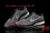 Wholesale 2016 new fashion racer top quality mesh breathable flykniting running shoes for men women popular style barefoot trainer sneakers size
