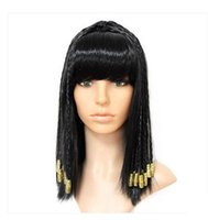 Wholesale 1 medium long cosplay hair decoration dance wig cos wig beads Cleopatra wig snake headwear for women