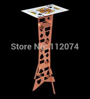 best poker tables - alluminum alloy Magic Folding Table copper color poker table Magician s best table magic trick stage illusions Accessories