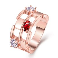 Wholesale Hot Selling rose gold Fashion woman s Ring Cheap Price price for Rose Gold Plated Crystal Rhinestone Rings