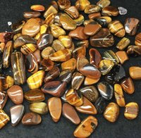 africa energy - 1 lb Bulk Tumbled Gold Tiger Eye Stones from Africa Natural Polished Gemstone Supplies for Wicca Reiki and Energy Crystal Healing Who