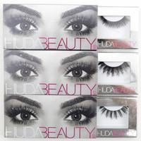 Wholesale 12 Styles Huda Beauty False Eyelashes Messy Cross Thick Natural Fake Eye Lashes Makeup Beauty Bigeye Long False Eye Lashes