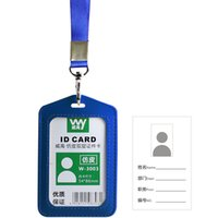 Wholesale solid colors pu leather Lanyard in Neck ID with clasp Badge Holder entrance guard badge bus card bank card lanyard